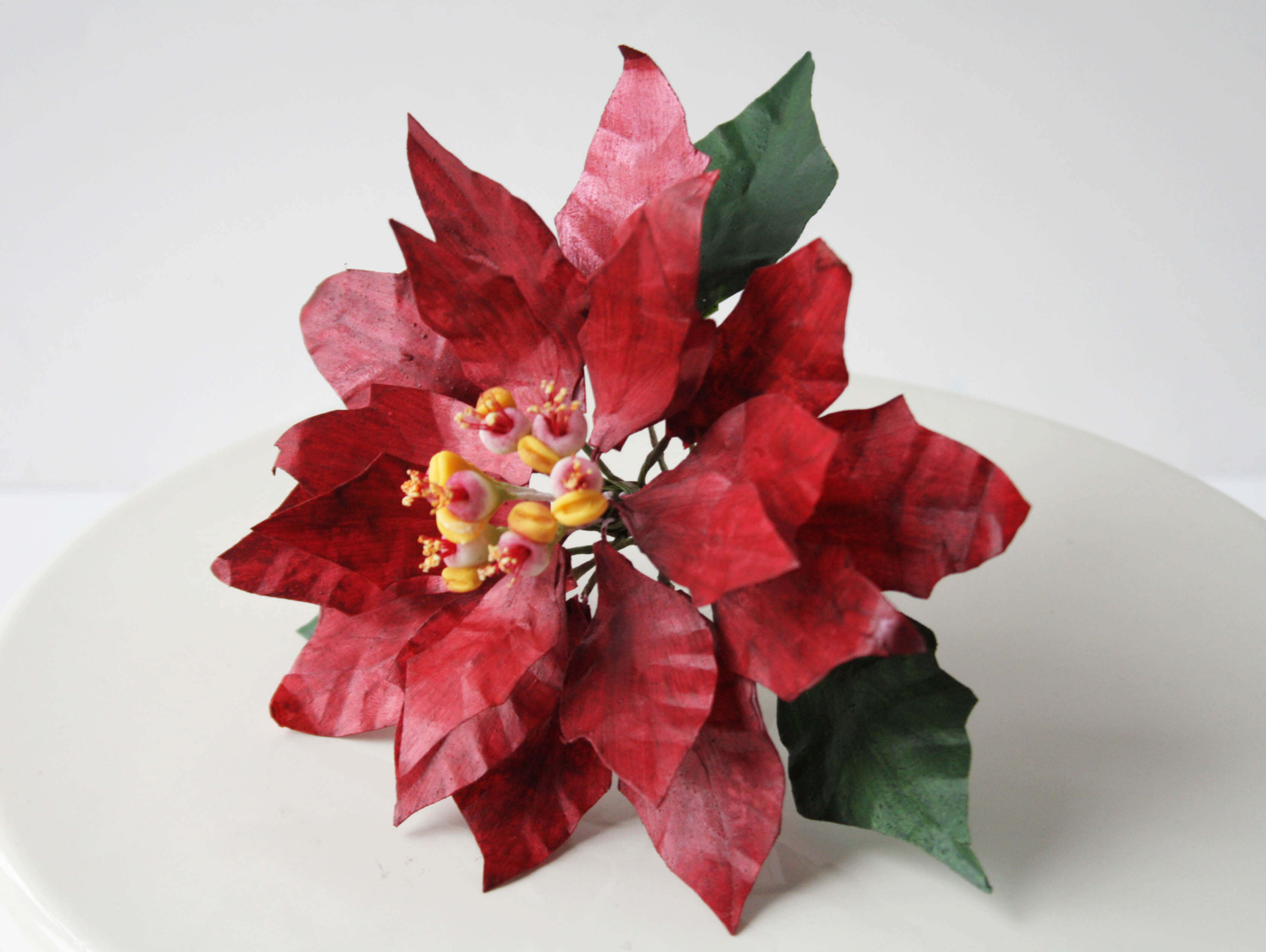 Sweet Delights Cakery Wafer Paper Poinsettia Tutorial